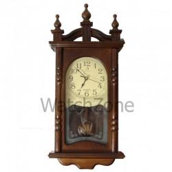 Ceas perete cu pendula din lemn Circle Moon TX-1307