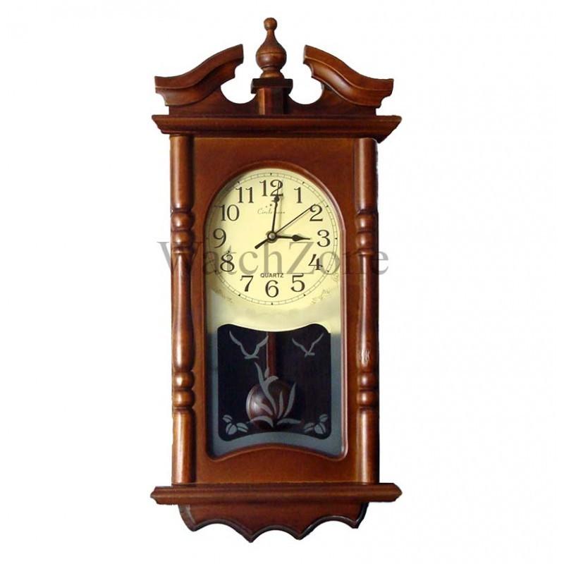 Ceas perete cu pendula din lemn Circle Moon TX-1310 imagine techstar.ro 2021