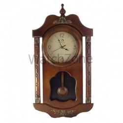 Ceas perete cu pendula din lemn Circle Moon TX-2501