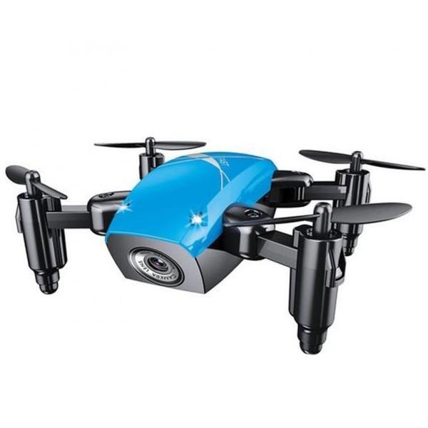 Mini Drona Iuni S9, Wifi, Frecventa 2.4ghz, Albastru