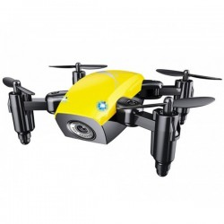 Mini Drona iUni S9, WiFi, Frecventa 2.4GHz, Galben