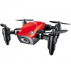 Mini Drona iUni S9, WiFi, Frecventa 2.4GHz, Rosu