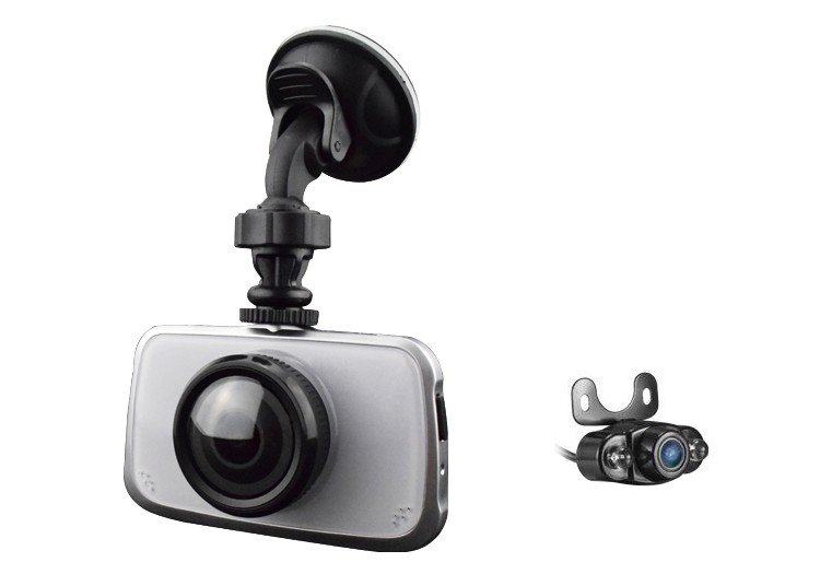 Camera Video Auto Dubla Novatek T808R Filmare FullHD Display 3.5