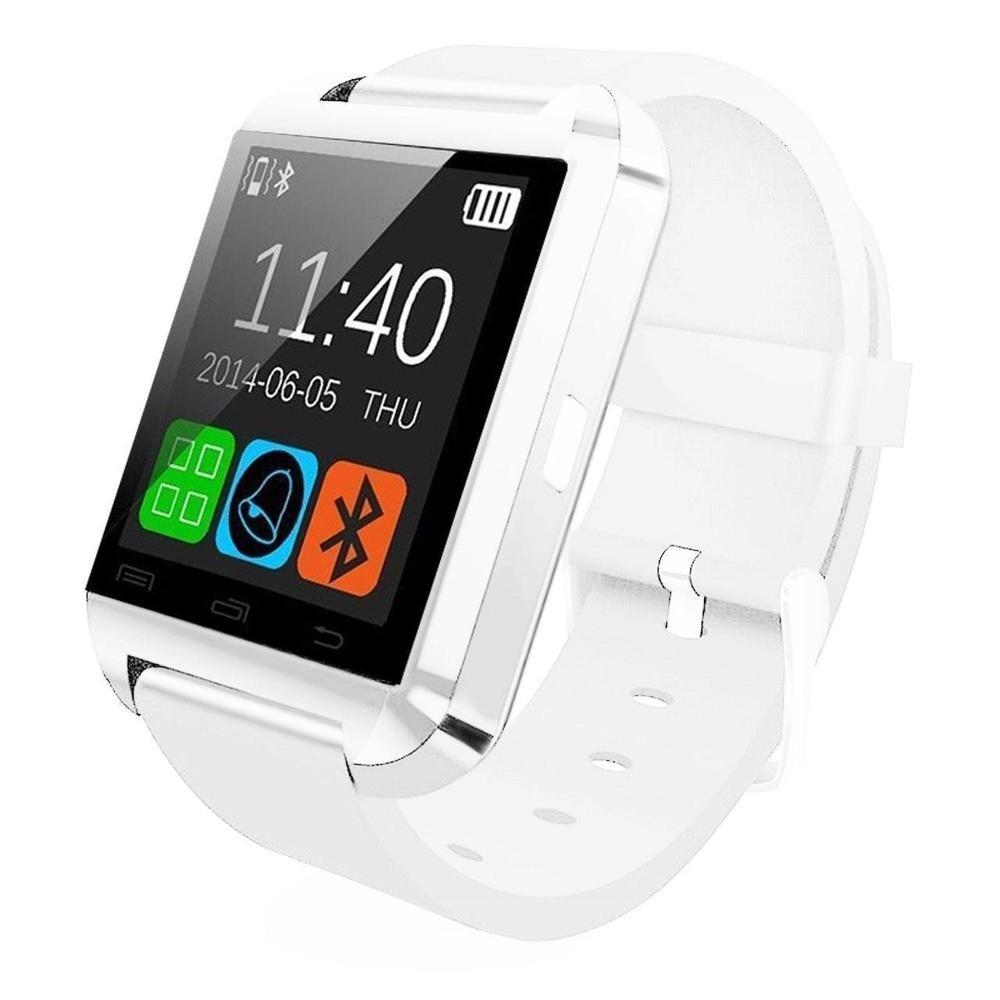 Smartwatch U-Watch U8 cu Bluetooth si Pedometru Alb