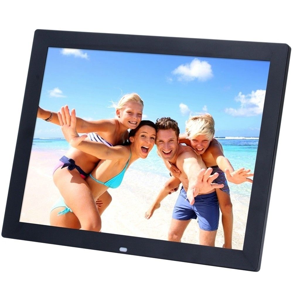 Rama foto digitala iUni RFD1 cu telecomanda, 15 inch, Multimedia, Negru