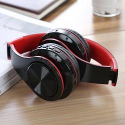 Casti Bluetooth Wireless W802 ROSU Over Ear Pliabile Sport cu microfon incorporat