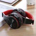 Casti Bluetooth Wireless W802 ROSU Over Ear Pliabile