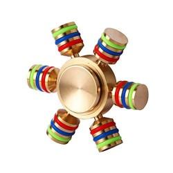 Fidget Spinner cu 6 Parti Metalic material Cupru Luceste in Intuneric