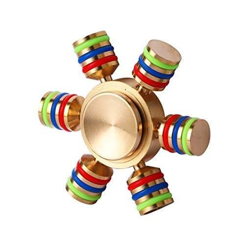 Fidget Spinner cu 6 Parti Metalic material Cupru Luceste in Intuneric imagine techstar.ro 2021