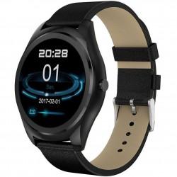 Ceas Smartwatch iUni N3 Plus, Curea Piele, BT, 1.3 Inch, IOS si Android, Black