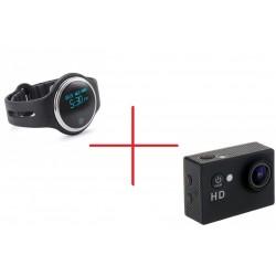 Set Promo Camera Xsports Sj5000 + Smartband Sport E07 Negru