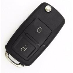 Carcasa cheie VW tip briceag, 2 butoane, LED la mijloc