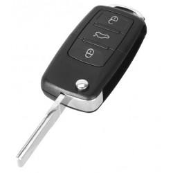 Carcasa cheie VW tip briceag, 3 butoane, LED la mijloc