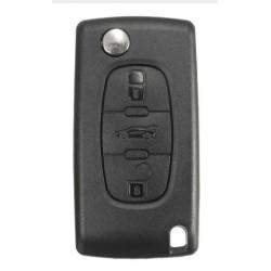Carcasa cheie tip briceag pentru Peugeot, Citroen, 3 butoane