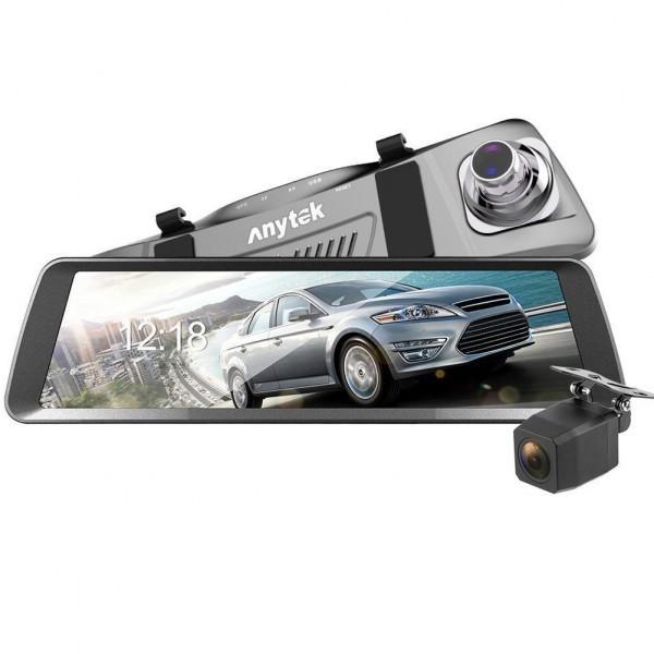 Camera Auto Oglinda iUni Dash T90, Dual Cam, Touchscreen, Display 9.88 inch, Full HD, Night Vision by Anytek imagine techstar.ro 2021