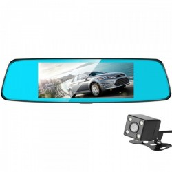 Camera Auto Oglinda iUni Dash T77, Dual Cam, Touchscreen, Display 7 inch, Full HD, Night Vision by Anytek