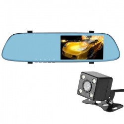 Camera Auto Oglinda iUni Dash T22, Dual Cam, Touchscreen 5 inch, Full HD, G Senzor, Unghi 150 grade, by Anytek