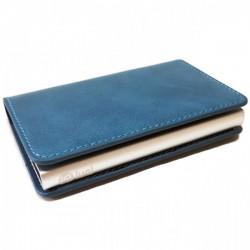 Portofel unisex, port card iUni P6, RFID, Compartiment 6 carduri, Albastru
