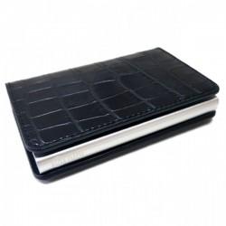 Portofel unisex, port card iUni P1, RFID, Compartiment 6 carduri, Negru Print