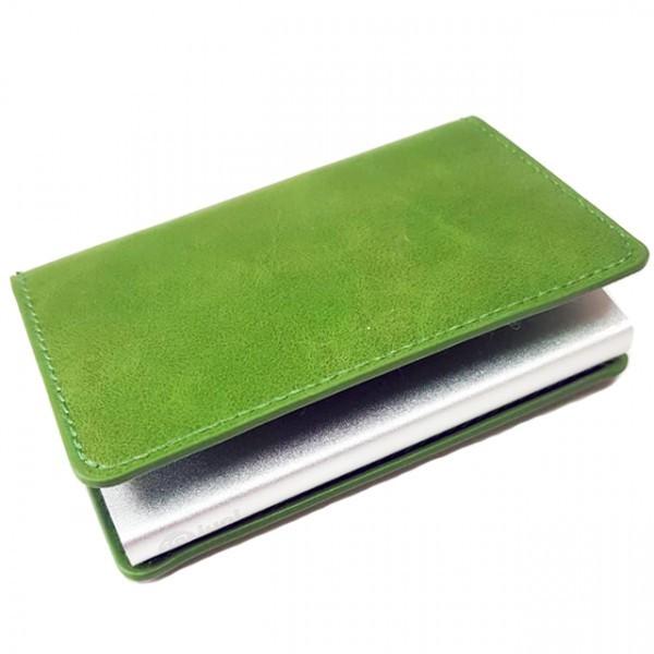 Portofel unisex, port card iUni P1, RFID, Compartiment 6 carduri, Verde