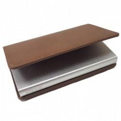 Portofel unisex, port card iUni P8, RFID, Compartiment 6 carduri, Maro deschis