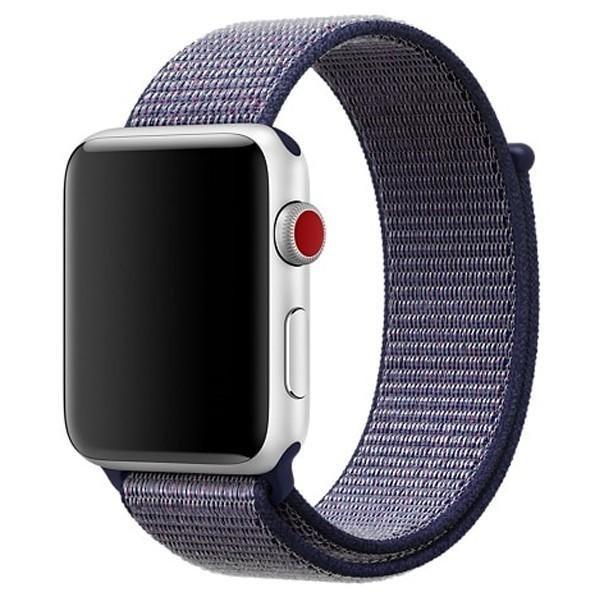 Curea pentru Apple Watch 42 mm iUni Woven Strap, Nylon Sport, Midnight Blue
