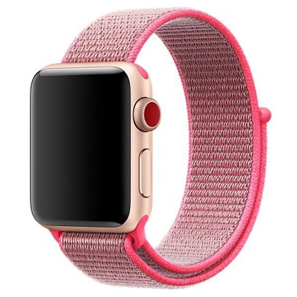 Curea pentru Apple Watch 38 mm iUni Woven Strap, Nylon Sport, Electric Pink