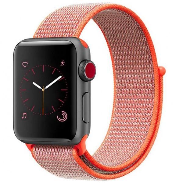 Curea pentru Apple Watch 38 mm iUni Woven Strap, Nylon Sport, Electric Orange imagine techstar.ro 2021