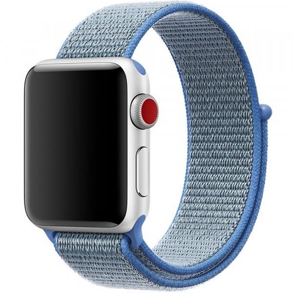 Curea pentru Apple Watch 38 mm iUni Woven Strap, Nylon Sport, Blue