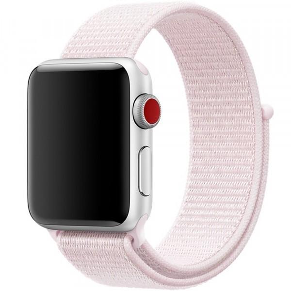 Curea pentru Apple Watch 42 mm iUni Woven Strap, Nylon Sport, Soft Pink