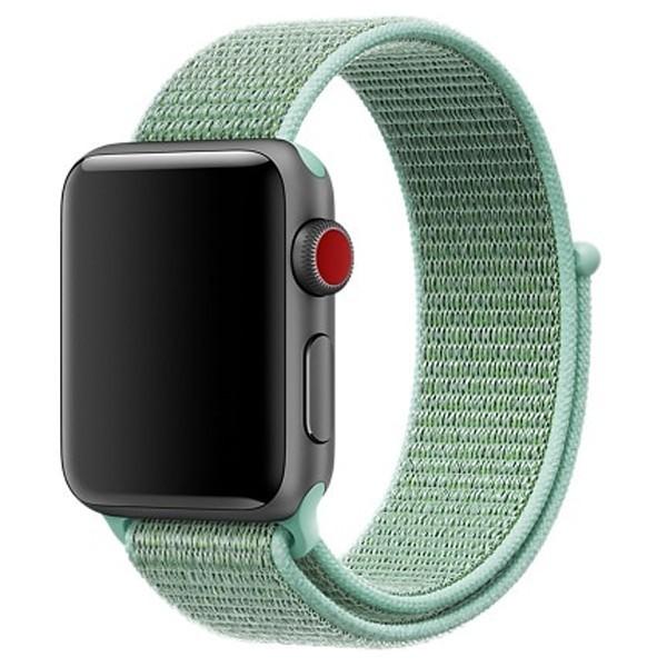 Curea pentru Apple Watch 38 mm iUni Woven Strap, Nylon Sport, Soft Green