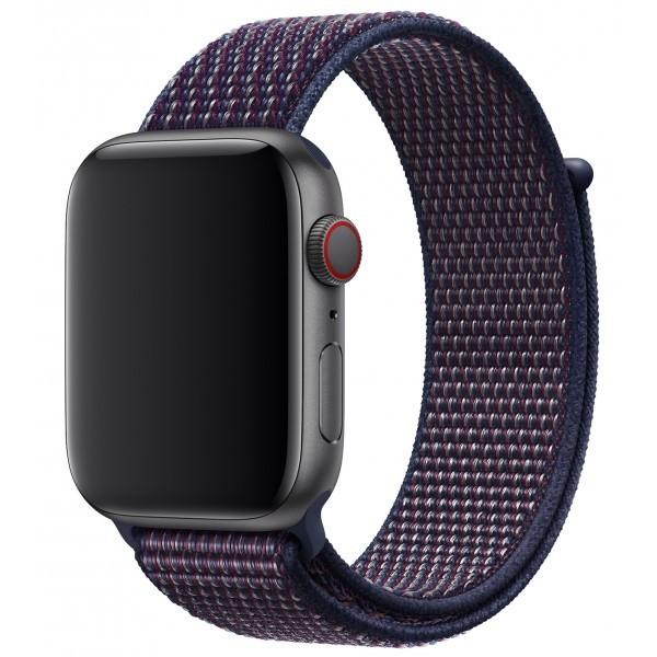 Curea pentru Apple Watch 38 mm iUni Woven Strap, Nylon Sport, Midnight Purple