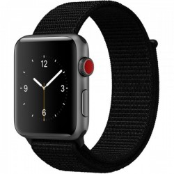 Curea pentru Apple Watch 38 mm iUni Woven Strap, Nylon Sport, Black