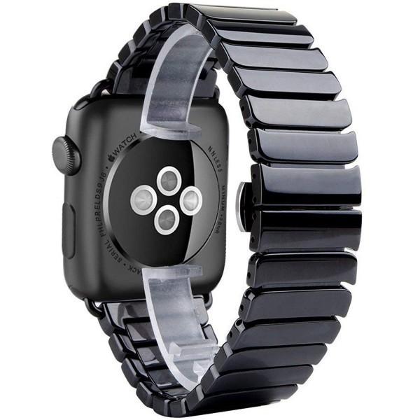 Curea pentru Apple Watch 42 mm iUni Ceramic Belt, Black