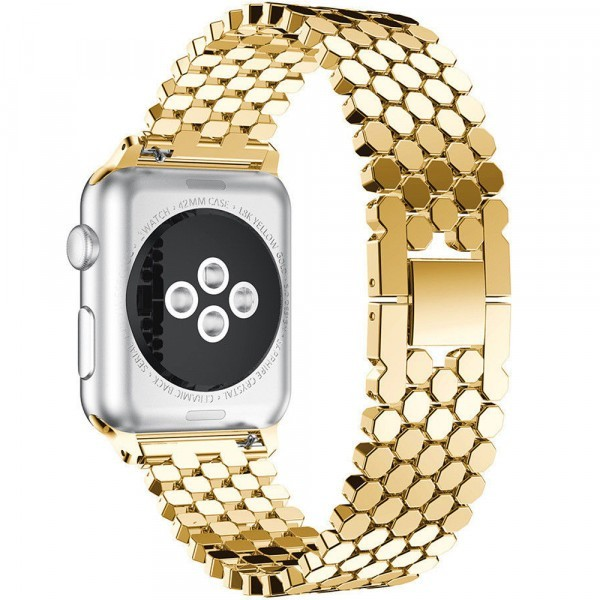 Curea pentru Apple Watch Gold Jewelry iUni 38 mm Otel Inoxidabil
