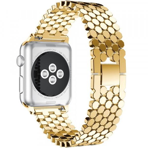 Curea pentru Apple Watch Gold Jewelry iUni 42 mm Otel Inoxidabil