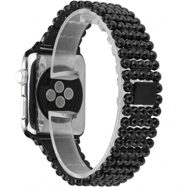 Curea pentru Apple Watch Black Luxury iUni 38 mm Otel Inoxidabil