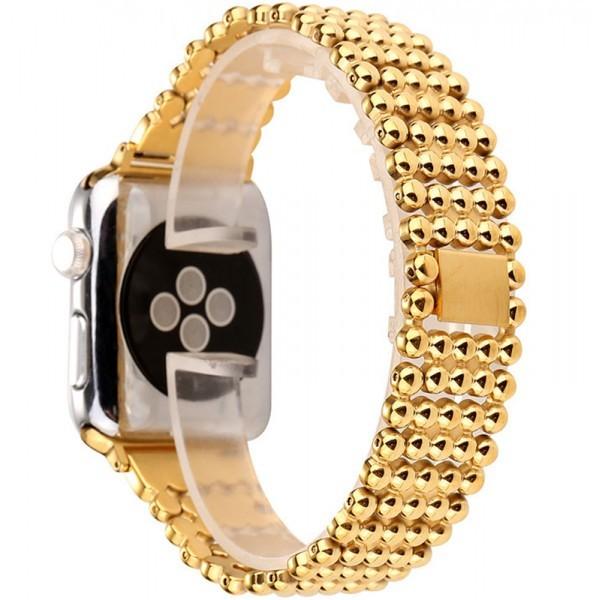 Curea pentru Apple Watch Gold Luxury iUni 42 mm Otel Inoxidabil