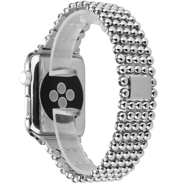 Curea pentru Apple Watch Silver Luxury iUni 38 mm Otel Inoxidabil
