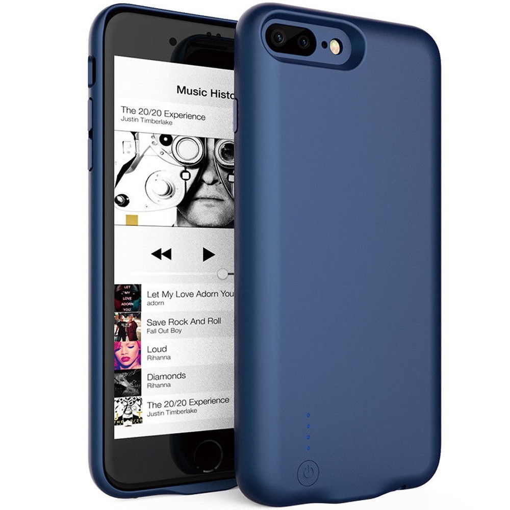 Husa Baterie Ultraslim iPhone 7 Plus/8 Plus, iUni Joyroom 3800mAh, Blue