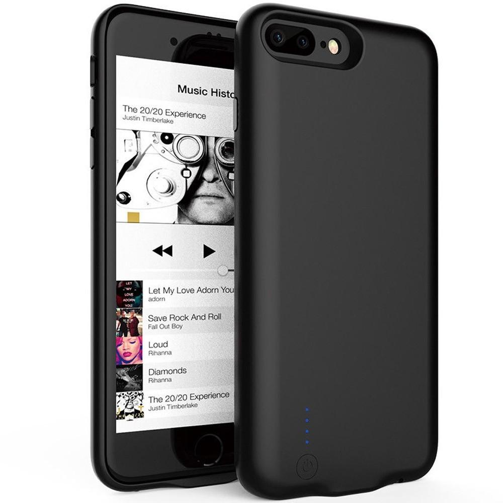 Husa Baterie Ultraslim iPhone 7 Plus/8 Plus, iUni Joyroom 3800mAh, Black imagine techstar.ro 2021