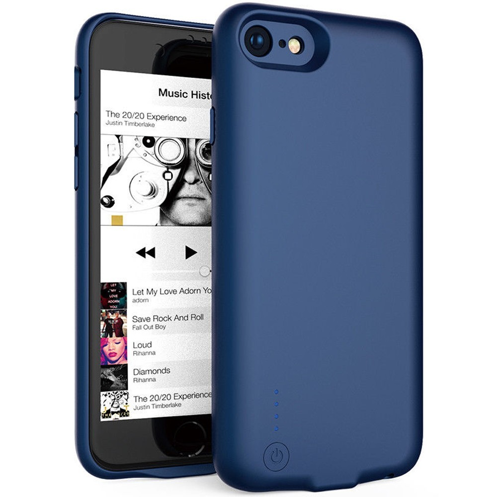 Husa Baterie Ultraslim iPhone 7/iPhone 8, iUni Joyroom 2800mAh, Blue imagine techstar.ro 2021