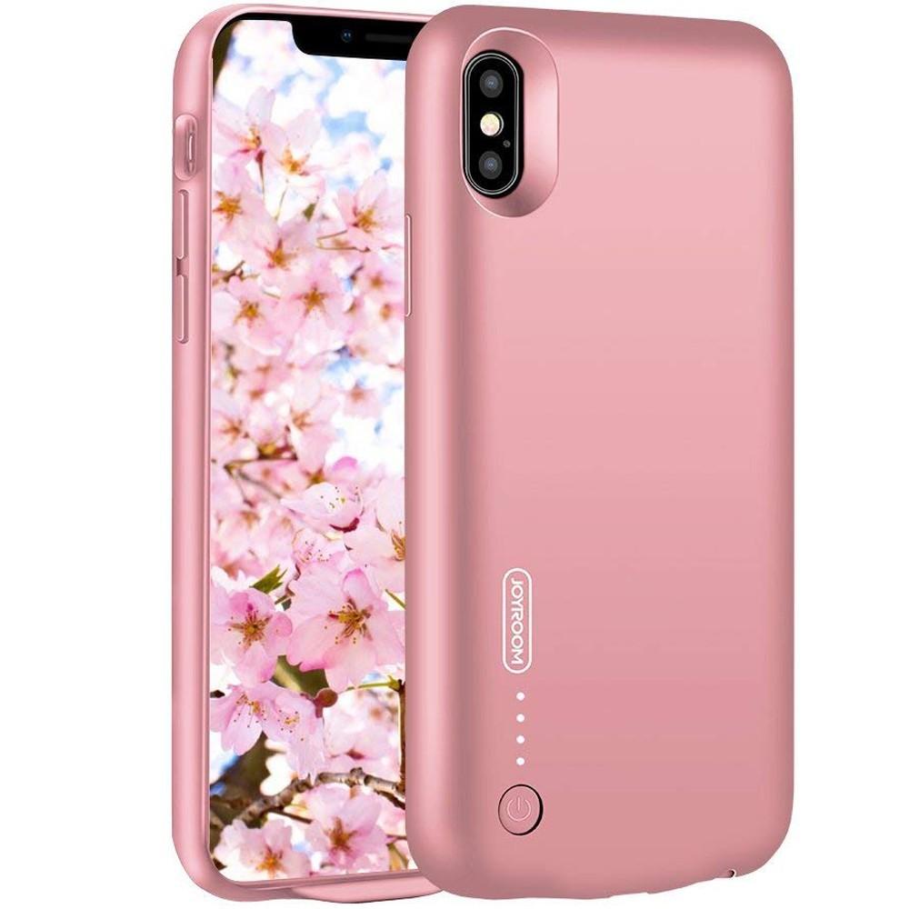 Husa Baterie Ultraslim iPhone X, iUni Joyroom 3500mAh, Rose Gold