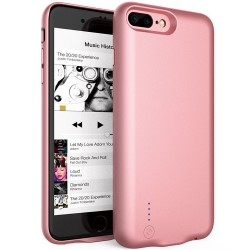 Husa Baterie Ultraslim iPhone 7 Plus/8 Plus, iUni Joyroom 3800mAh, Rose Gold