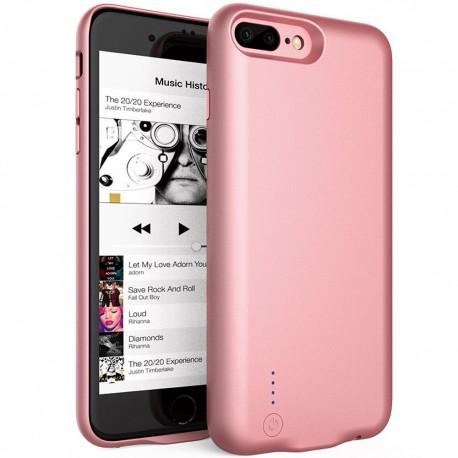 Husa Baterie Ultraslim iPhone 7 Plus/8 Plus, iUni Joyroom 3800mAh, Rose Gold