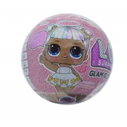 Papusa LOL Surprise Glam Glitter cu 8 elemente, diametru 10cm