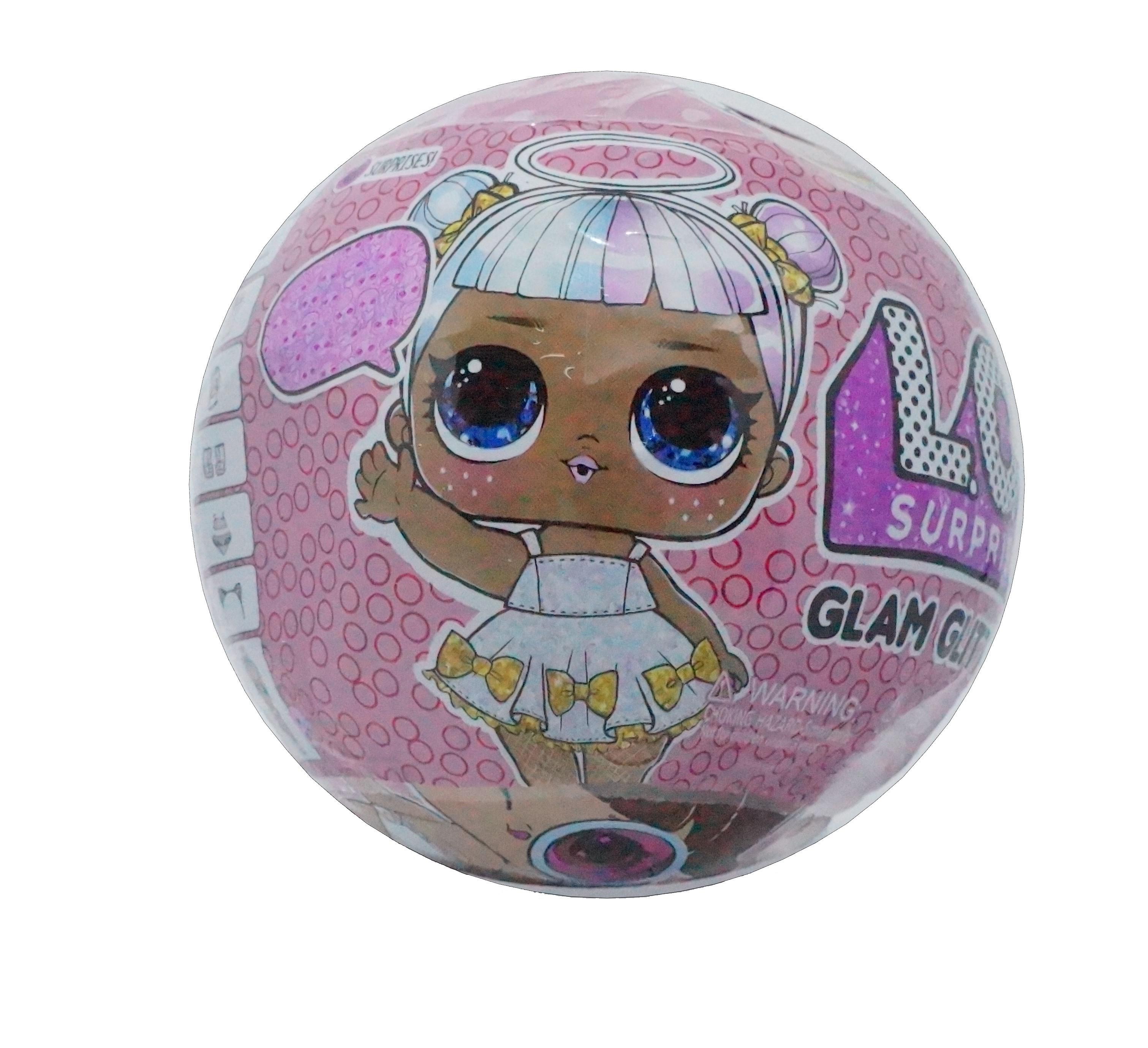 Papusa LOL Surprise Glam Glitter cu 8 elemente, diametru 10cm imagine techstar.ro 2021