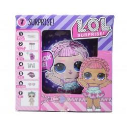 Papusa LOL Surprise Glam Glitter cu 7 piese, diametru 10cm