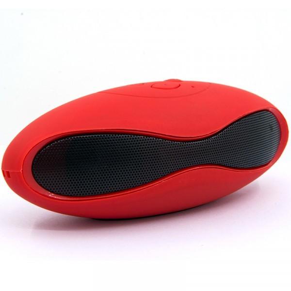 Boxa Portabila Bluetooth iUni DF01, USB, TF CARD, AUX-IN, Fm radio, Leduri, Rosu