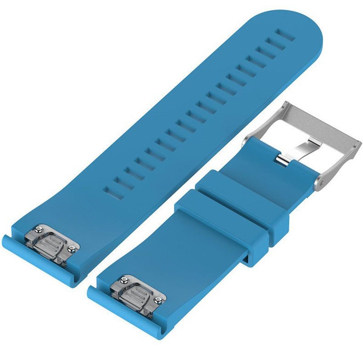 Curea ceas Smartwatch Garmin Fenix 3 / Fenix 5X, 26 mm Silicon iUni Blue